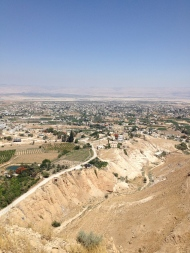 View from Jericho overlooking the Dead Sea
