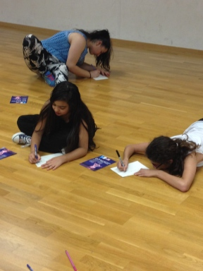 Students from the Salma Dance Academy reflecting on what dancing connects them to