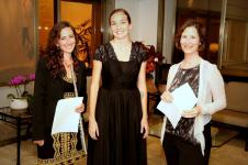 Me with Lilliana Carrizo flutist and Anat Lapidot, Executive Director of the US-Israel Educaitonal Foundation